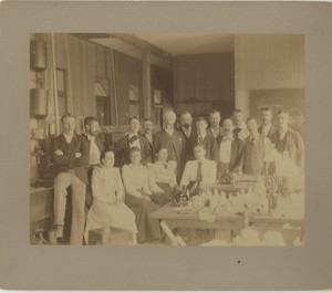 Students and faculty in the 1893 Embryology Course at the MBL