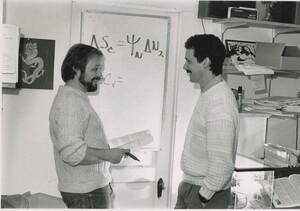 Edward Rastetter, left, and Robert McKane, right