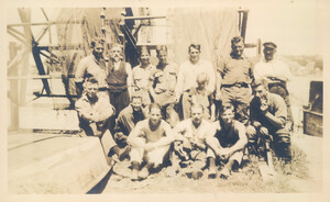 Sepia group photo of MBL collecting crew from 1922 or 1923