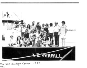 Faculty and students in the 1979 Marine Ecology course