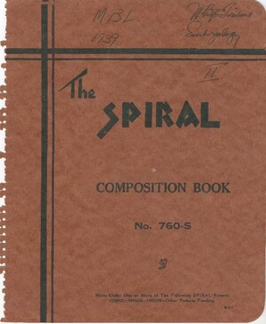 The second notebook of lecture and laboratory notes that John P. Trinkaus took during his time as a student in the Embryology Course in 1939